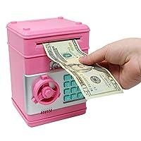 Smart Novelty 儿童电子储蓄罐 带密码迷你 ATM 银行 儿童礼物电子储蓄罐 粉红色