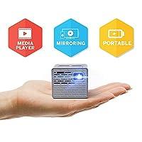 AAXA P2-B LED 投影儀 - 支持全高清 1080P,適用于智能手機、iPhone、游戲、筆記本電腦、帶迷你 HDMI 的旅行、板載媒體播放器,電池壽命長達 150 分鐘