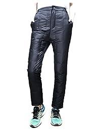 美国UAISI 男女装羽绒裤情侣白鹅绒裤加厚外穿运动休闲裤保暖加绒裤子