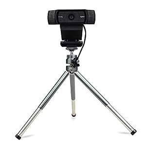 轻质迷你摄像头三脚架适用于 Logitech 摄像头 C920°C922小号相机三脚架支架手机支架支架 灰色
