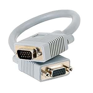 C2G 0.5m 高级屏蔽 HD15 SXGA M/F 显示器延长电缆81096 1M