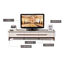 现代电视柜 大理石电视柜地柜组合 简约现代大中小户型电视柜组合 客厅烤漆家具 (配套电视柜(2000MM*400MM*410MM), 卡其色大理石款)