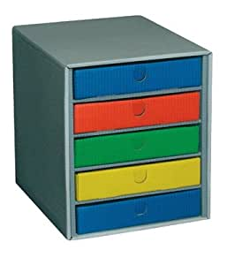 Fast 100725933 模块板 + 5 个抽屉 多种颜色 灰色