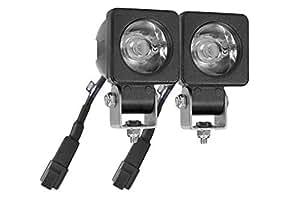 LED 灯 - 20 瓦 - 2 X 10 瓦 - 1600 流明 - 螺柱安装 - 9-48V(-黑色-盆)