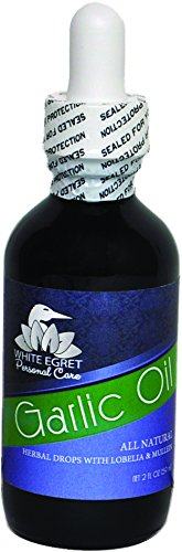 White Egret Earomatherapy Ear Oil with Garlic 2 FL OZ(Pack of 4)