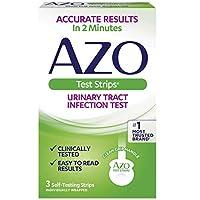 AZO 尿路感染(UTI)试纸条| 2分钟内准确的结果 测试 易于阅读的结果 洁净的手握把手| 值得信赖的品牌| 3自检条