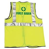Safety First AID Q4217 First Aider 高可见度马甲,大号/XL