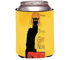 "Rikki Knight ""Le Chat Noir Design"" Beer Can Soda Drinks Cooler Koozie"