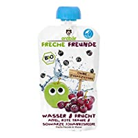 """Freche Freunde Bio Fruchtschorle ohne Zuckerzusatz, Wasser & Frucht """"Apfel, Rote Traube & Schwarze Johannisbeere"""", Erfrischungsgetr?nk für Kinder & Babys ab 1 Jahr, 12er Pack (12 x 200 ml)"""