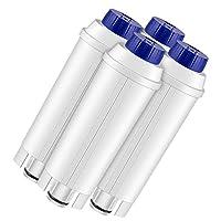 Lirex 咖啡机滤水器 适用于 Delonghi DLSC002 替换滤芯 带活性碳 兼容 ECAM、ETAM、EC680、EC800 4 包 CoffeeFilter-Delonghi-4PK