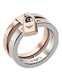 Emporio Armani 安普里奥·阿玛尼 女士戒指 不锈钢 2 颗玻璃石 32004415 粉色 60 粉色