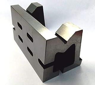 全新等级铸铁VEE角板-减轻应力-工作持握钳铣削工程机械工具-重型(3 x 3 x 5 英寸(75 x 75 x 125 毫米)-开槽)