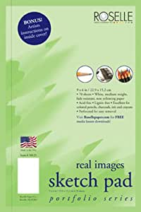 Roselle Real Images Side Wire Sketch Book (50125)