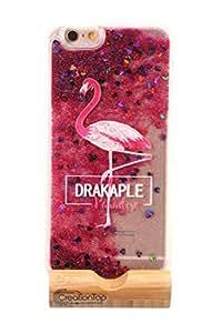 Creationtop iPhone 6 6s 手机壳,TPU 保护垫,耐刮擦,硬背带液体快砂闪光闪光 Flamingo(Style 1) Iphone 6/6s
