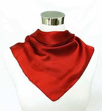 缎面纯*丝绸头巾 53.34 厘米 x 53.34 厘米