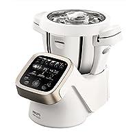 Krups Prep&Cook HP5031 多功能厨师机 (1550, 带烹饪功能) 白色 不锈钢