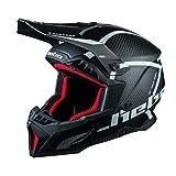 Hebo MX Legend 碳纤维头盔,成人男女通用,黑色,XL 码