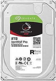 Seagate IronWolf Pro 3.5英寸 8TB HDD 带数据复古服务5年保修 256S 7200rpm 24小时工作 PC NAS 用 RV传感器 ST8000NE001