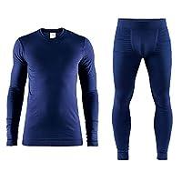 Craft 男士 红标贴身层舒适系列运动内衣贴身层套装 适合中低强度运动温度-5°C到-25°C跑步滑雪骑行户外 1906608-1906609