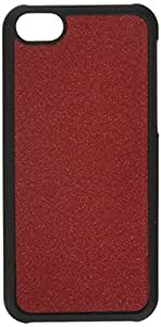 Slickwraps Glitter Collection the Case for iPhone 5c - Garnet Red - Carrying Case - Retail Packaging - Garnet Red