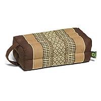Kapok Dreams 冥想垫子和瑜伽道具,带手柄/绑带,* 天然 Kapok 填充物(天然植物纤维),棕色 - 米色。
