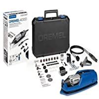DREMEL 琢美 4000旋转刀具175 W,带4个附件65附件的旋转多工具套件,变速5000-35000 rpm,用于切割、雕刻、砂光、钻孔、抛光、布线、锐化、研磨