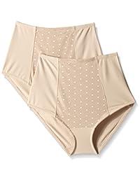 ELLEN Tracy 女士完美形状控制内裤带圆点网眼(2个装)