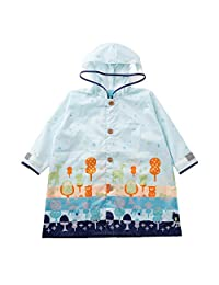 小川(Ogawa) 儿童雨衣 110厘米 Kukka Hippo 森林散步 附带反光条 附带河马先生造型背包式样收纳袋 83208