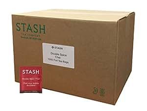 Stash Tea Double Chai Spice Black Tea, 1000 Tea Bags in 8.58 Pound Box