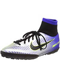 Nike Unisex Kids' JR Mercurialx VCTRY6 DF Njr TF Football Boots, Blue (Racer Blue/Black-Chrome-Volt 407), 3.5UK Child