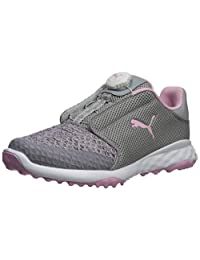 PUMA Kid's Grip Fusion Sport Disc 儿童高尔夫鞋 Limestone-lilac Sachet 7 M US 儿童