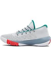 Under Armour 中性款学前SC 3ZER0 III 篮球鞋,光环 (101)/浅灰色,4 M 美国大童