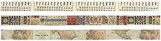 由 Tim Holtz 设计胶带,护照,3 卷,每卷 10 码,多色,TH93194