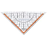 Rotring Centro 幾何繪圖套裝帶直尺 / 量角器 / 三角板 幾何繪圖套裝 Dreieck mit Griff 23 cm 透明