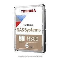 Toshiba 东芝 N300 6TB NAS 3.5英寸电脑机械硬盘- SATA 6 Gb/s 7200 RPM 128MB (HDWN160XZSTA)