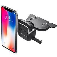 iOttie Easy One Touch 4 CD 槽车载手机支架适用于 iPhone X 8 Plus 7 Samsung Galaxy S9 S8 Edge S7 Note 8 和其他智能手机 [10 美元亚马逊信用额] 黑色