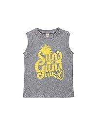 幼儿男孩圆领背心太阳的户外枪图案无袖衬衫