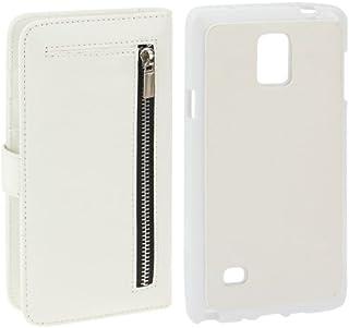 alsatek 手机壳 2 合 1 PU 皮革钱包手机套适用于三星 Galaxy Note 4 白色