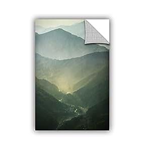 "ArtWall ""Dragos Dumitrascu's Sunrise Valley"" Removable Wall Art, 16"" x 24"""