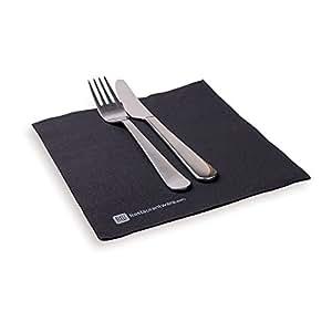 Luxenap Micropoint 2 层一次性餐巾红色 40.64x40.64cm 50 片 黑色 1800 count RWA0120