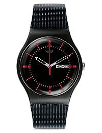 瑞士品牌 Swatch 斯沃琪 新原创炫彩系列石英中性手表 黑色纽扣 SUOB714