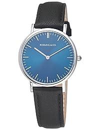 Rossling & Co. 石英男女适用手表 Classic 36mm - Rogart - RO-005-001 (亚马逊进口直采, 加拿大品牌)