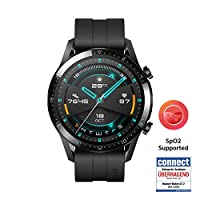 Huawei 華為 GT 2(46毫米)手表 帶心律測量 音樂播放和藍牙電話功能 5ATM防水 磨砂黑