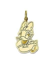 Roy Rose 珠宝镀金纯银迪士尼雏菊鸭吊坠项链配链