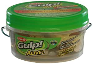 Berkley GAPSH3PC2-AST1 Gulp Alive Shrimp and Peeler Crab Bait, Assorted, 3-Inch