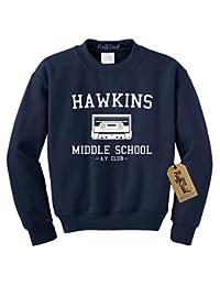 NuffSaid Hawkins 中学 AV 俱乐部圆领运动衫毛衣 - 中性款 圆领