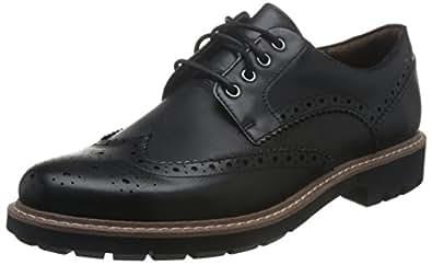 Clarks 其乐 男士 batcombe WING 粗革皮鞋 Black (Black Leather) 7.5 UK