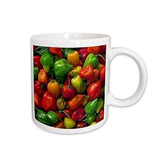 3dRose OR, Willamette Valley Habanero Peppers, Cuisines - Jaynes Gallery, Ceramic Mug, 11-Oz