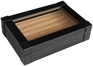 黑色人造革袖扣盒和环扣收纳盒男士珠宝盒
