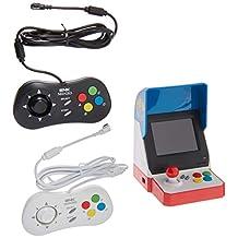 Game Monkey Neogeo Mini Pro Player Pack 美国版 - 包括 2 个游戏垫(1 个黑色和 1 个白色)和 HDMI 线缆 - Neo Geo 口袋